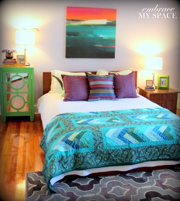 Embrace My Space:  Turquoise Bedroom