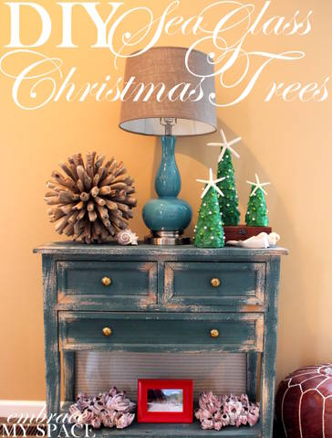 DIY Seaglass Holiday Trees
