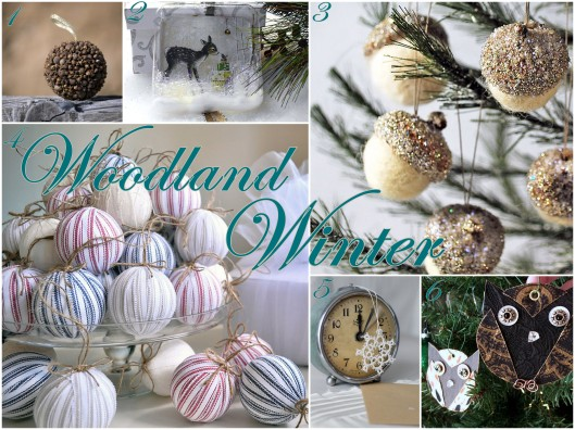 Embrace My Space: Woodland Christmas Ornaments