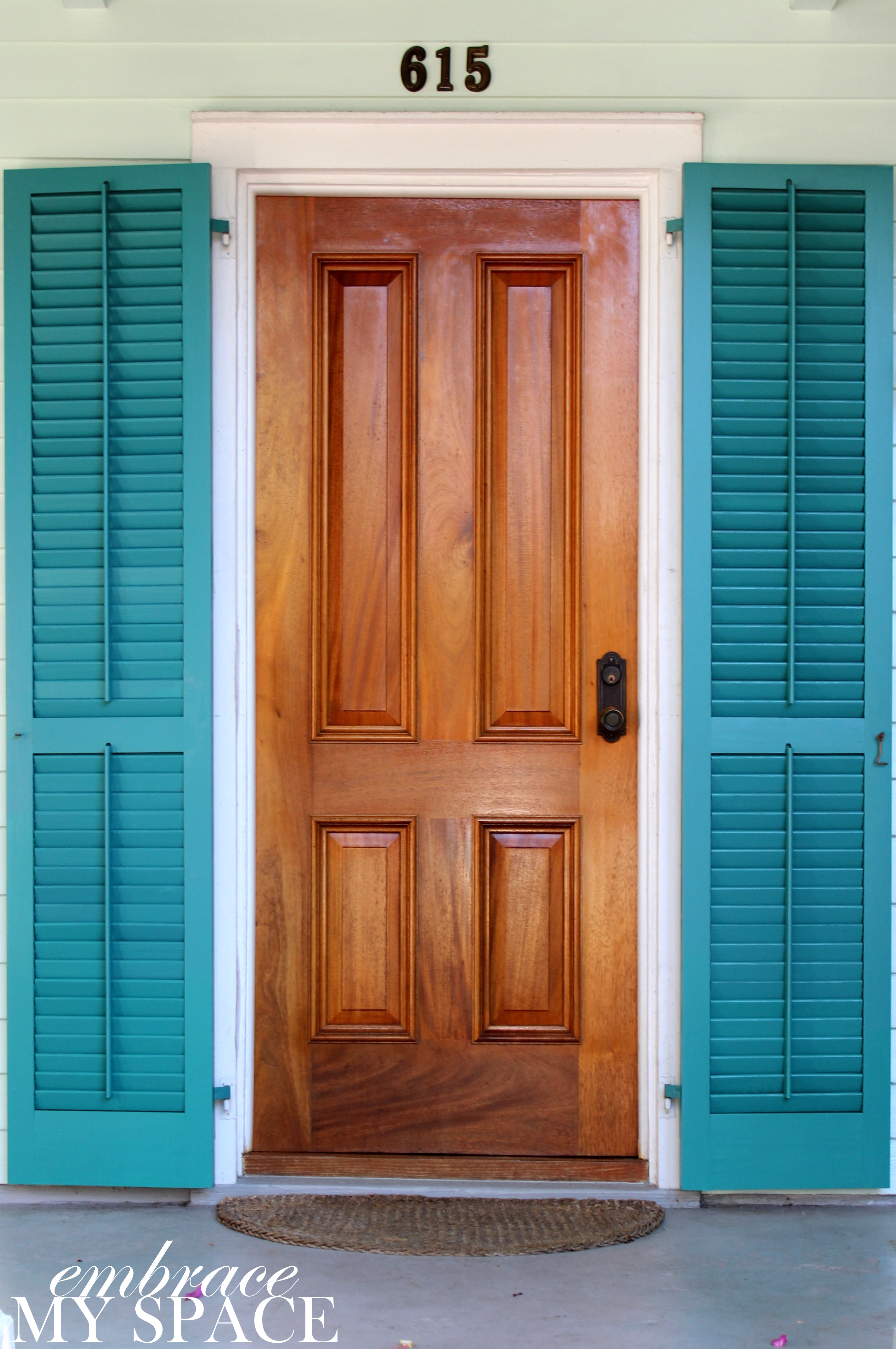 DOOR: Many Key West homes have storm shutters on the windows and doors