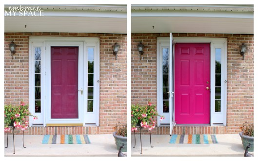 Embrace My Space: Pink Front Door