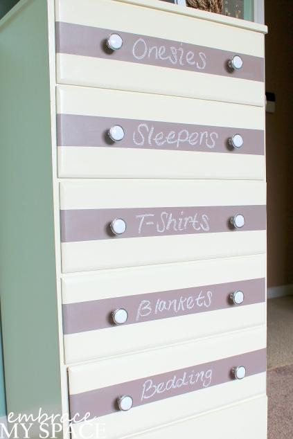 Chalkboard Stripe Dresser