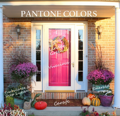Embrace My Space: Pantone Fall Front Porch