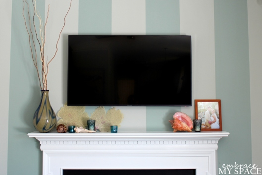 Embrace My Space: Minimalist Mantel