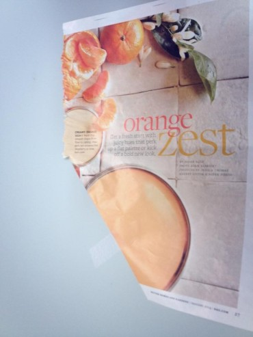 Embrace My Space: orange zest